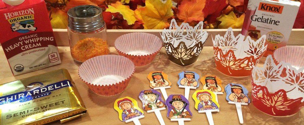Decoration for Pumpkin Liqueur Cupcakes