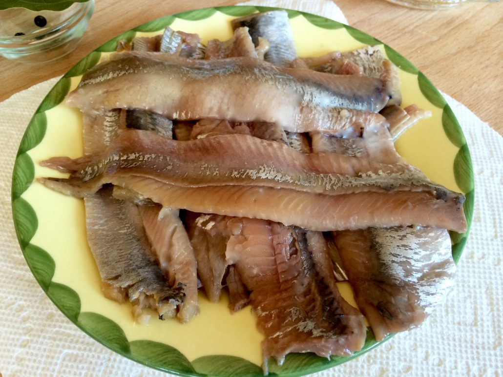Preparation Marinated Herring