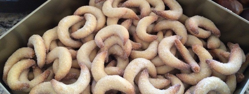 German Vanilla Horn Cookies