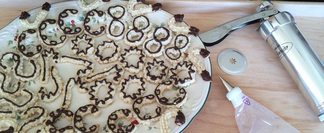 Decorating German Spritz Cookies