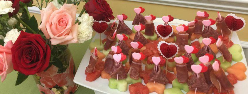 Melon Prosciutto Salami Appetizer