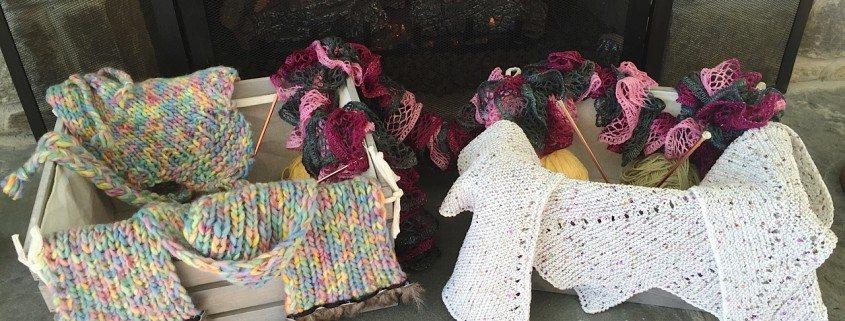 Winter Knitting Homeless