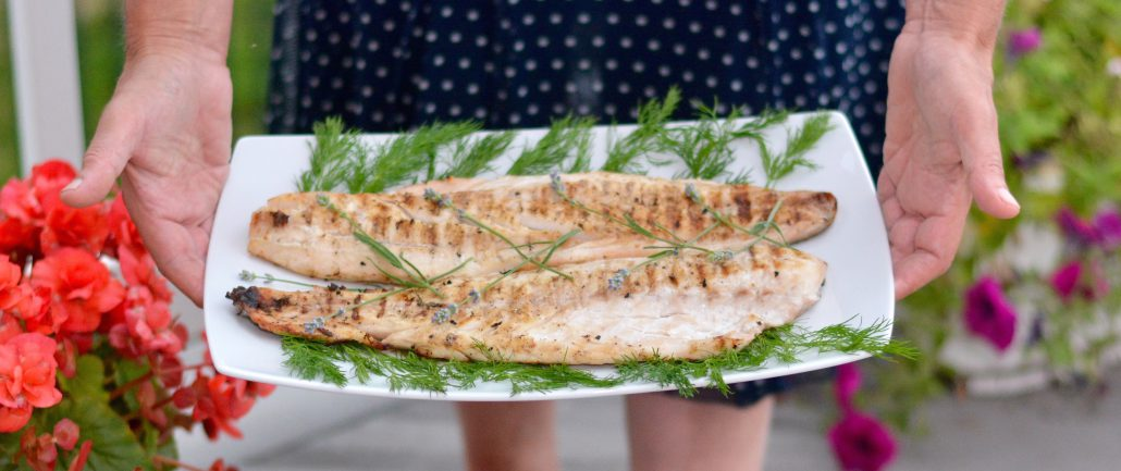 Serving Fish at a July 4th Barbecue