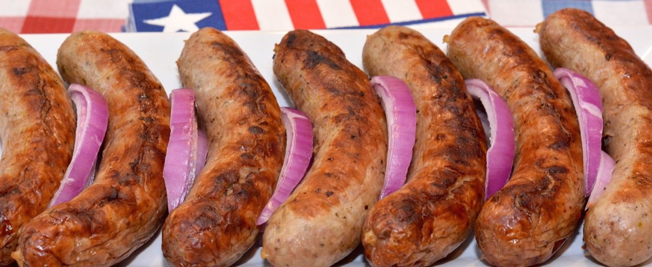 German Grilled Bratwurst Marinated