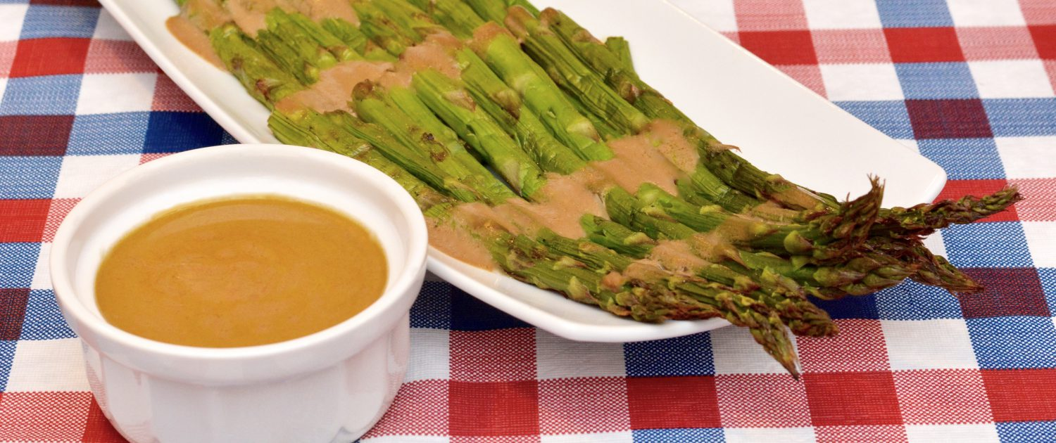 Grilled Asparagus with Dressing
