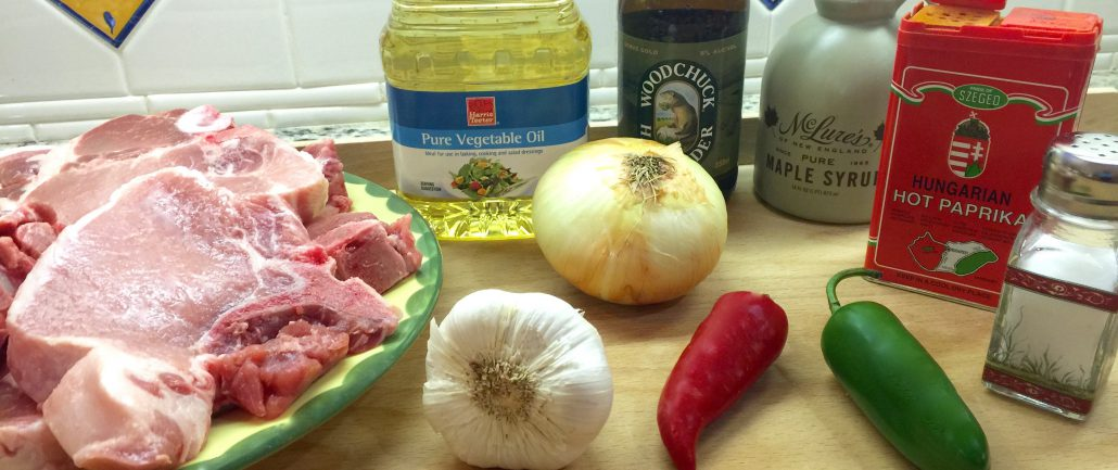 Ingredients for Grilled Pork Loin Chops