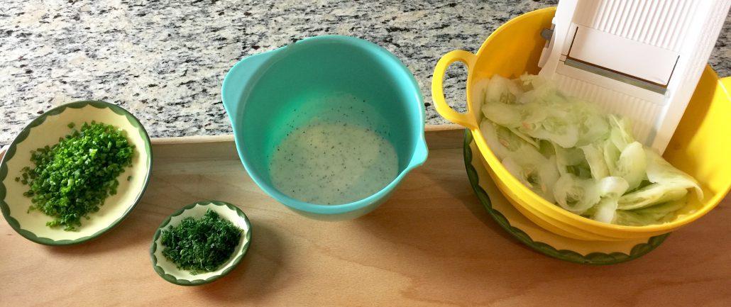 Finishing Cucumber Salad Recipe