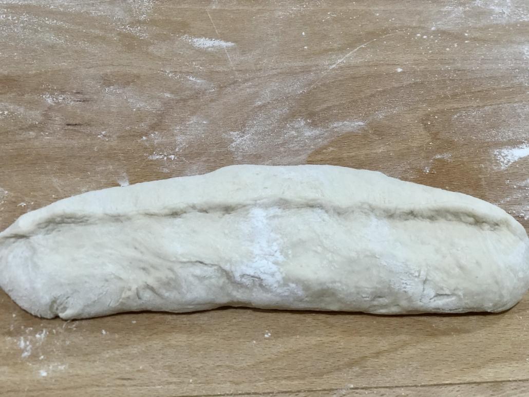 Closing the bread