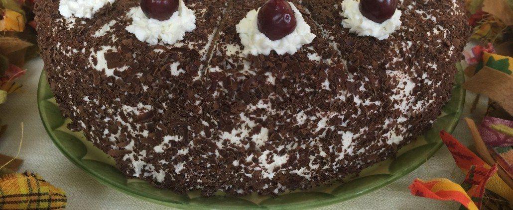 Finishing traditional Black Forest Cake Recipe