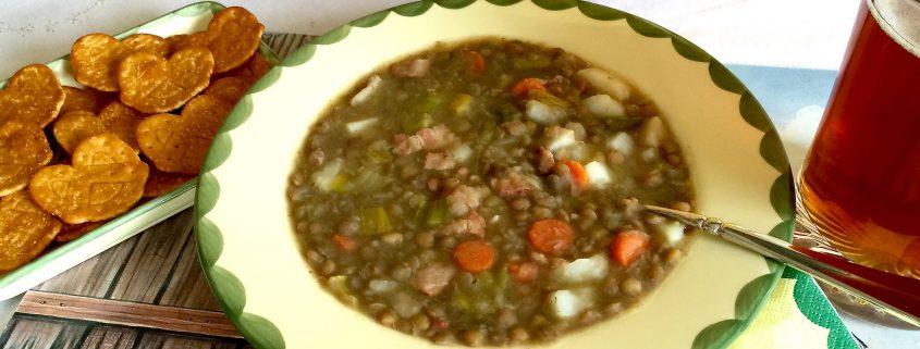 Traditional German Lentil Soup