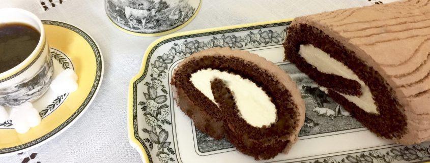 German Chocolate Log Cake