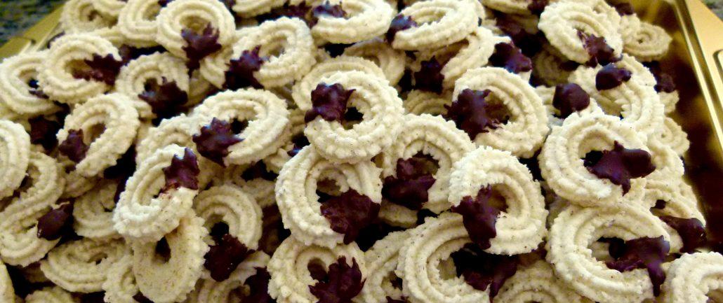 Serving German Spritz Cookies