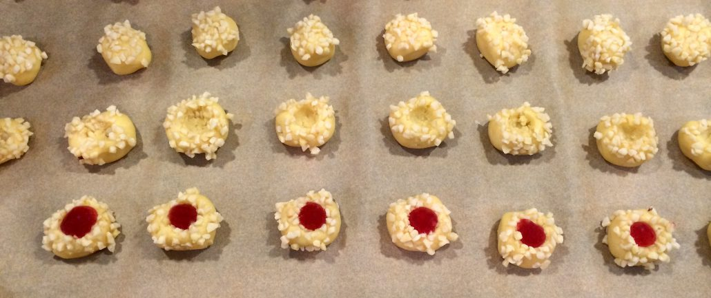 Traditional German Thumbprint Cookies
