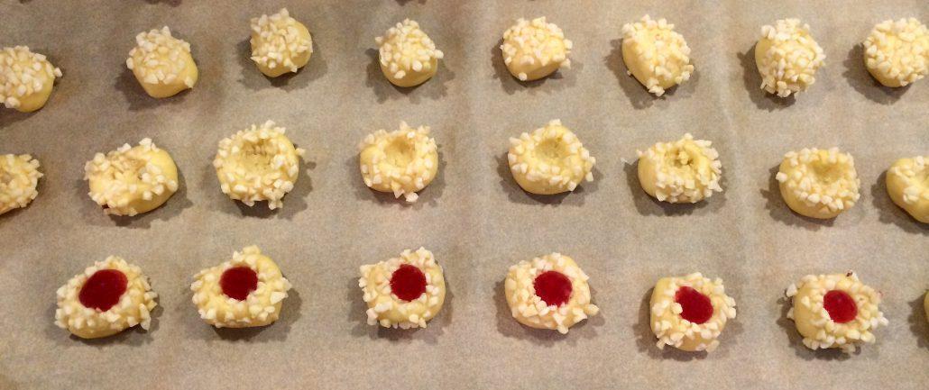 Traditional German Thumbprint Cookies