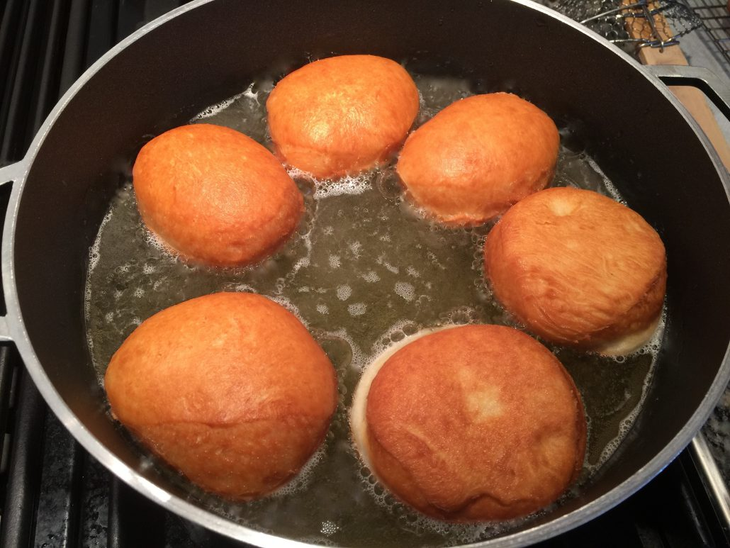 Baking original German doughnut recipe