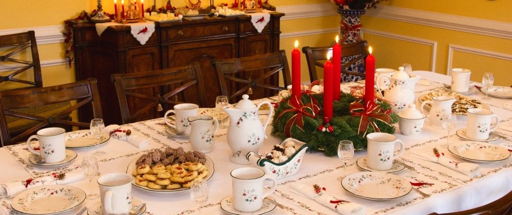 German Christmas Celebrations Table Decorations