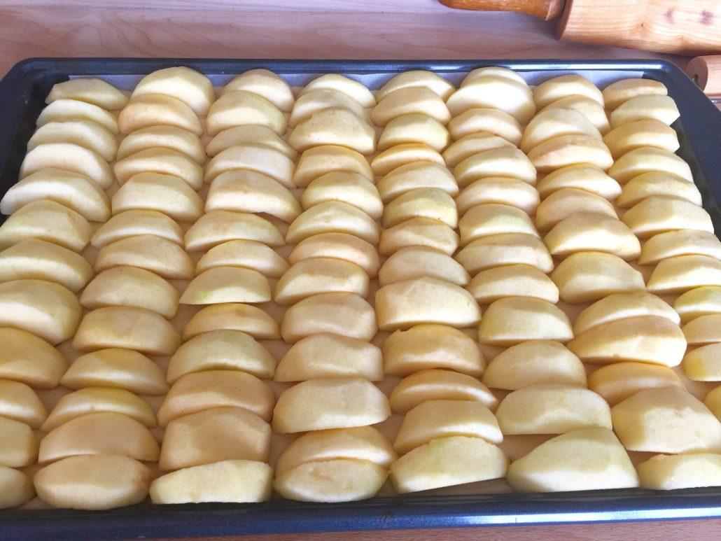 Baking of Simple Apple Cake
