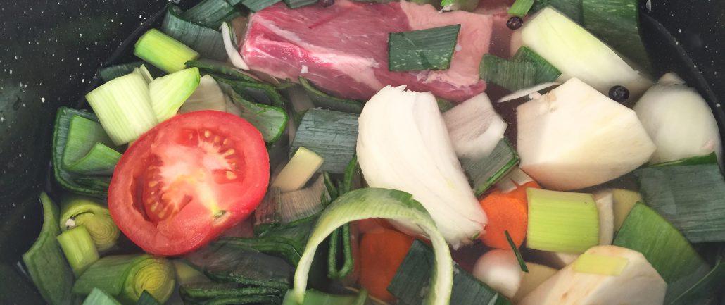Preparation Homemade Beef Broth Recipe