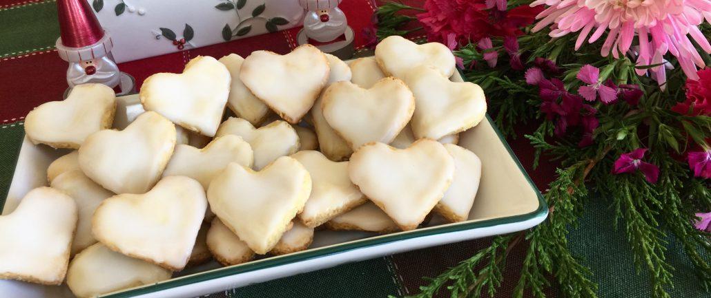 German Lemon Heart Cookies Traditional Christmas Cookies