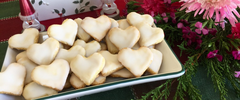 German Lemon Heart Cookies