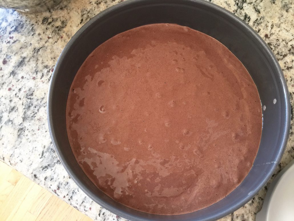 Baking of Sponge Cake for Homemade German Rum Balls