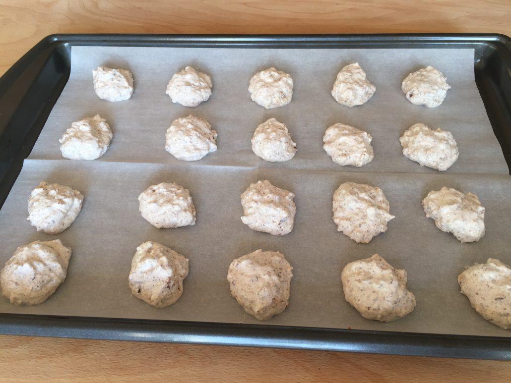Shaping macaroons made with German Hazelnut Macaroon Recipe