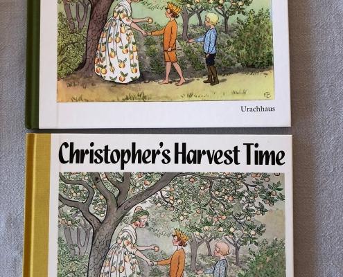 Lasse im Garten - Christopher's Harvest Tine