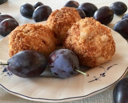 German Plum Potato Dumplings