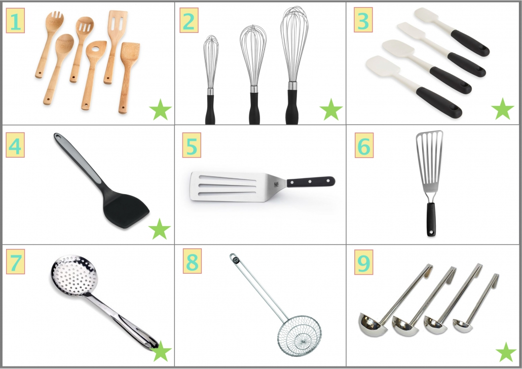 Kitchen Utensils included in the list of Best useful kitchen tools