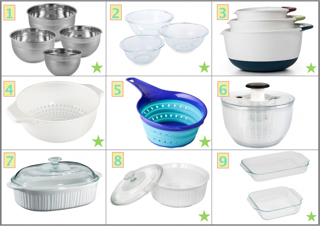 Bowls, Colander and Dishes