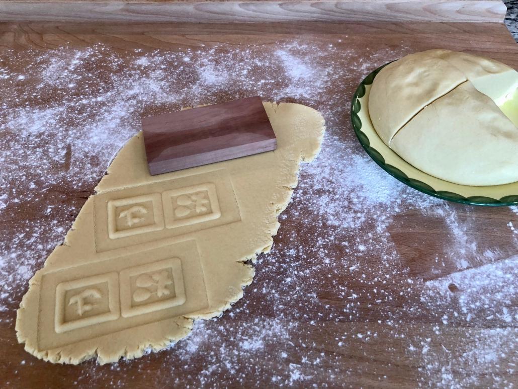 Rolling dough for Springerle