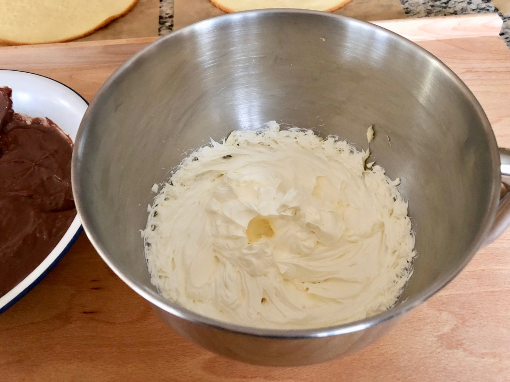 Preparation of the buttercream