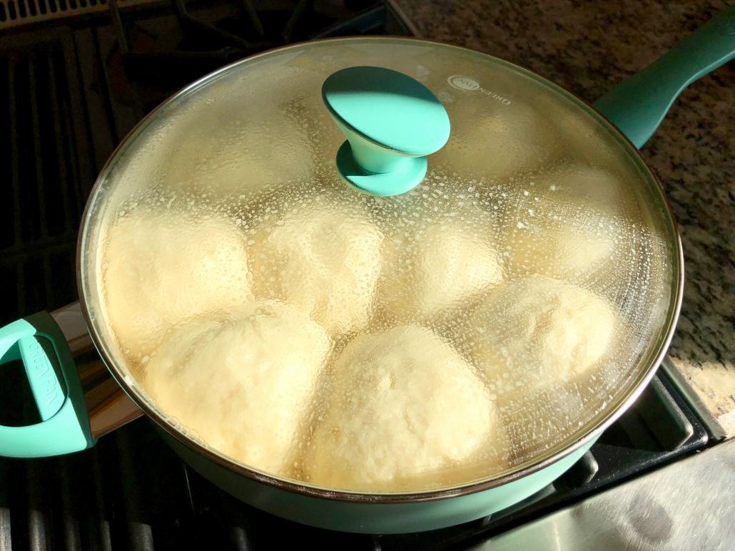 Cooking of the Sweet German Dumplings, Dampfnudeln