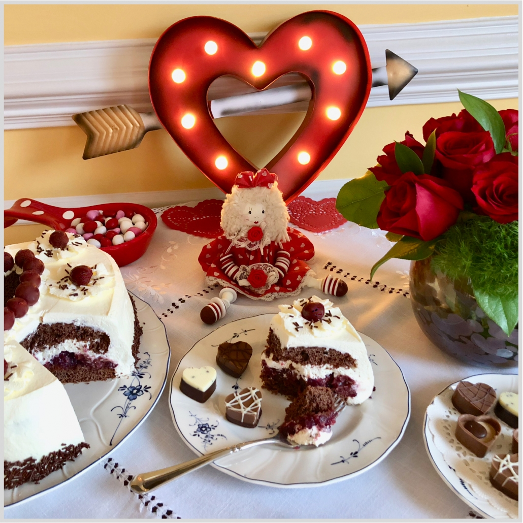 Valentine's Day and homemade food cooked with Authentic German Recipes