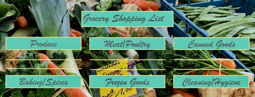 Coronavirus Shopping List
