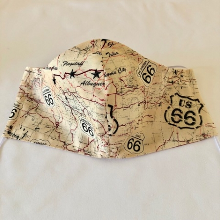 Beige - Route 66 Mask