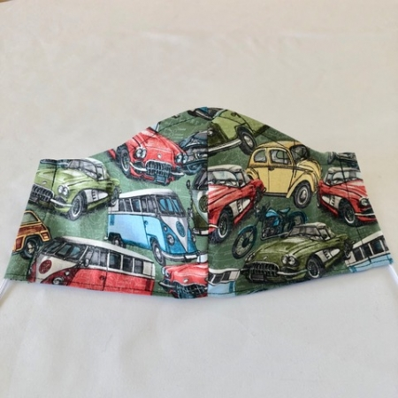Green Vintage Cars Mask