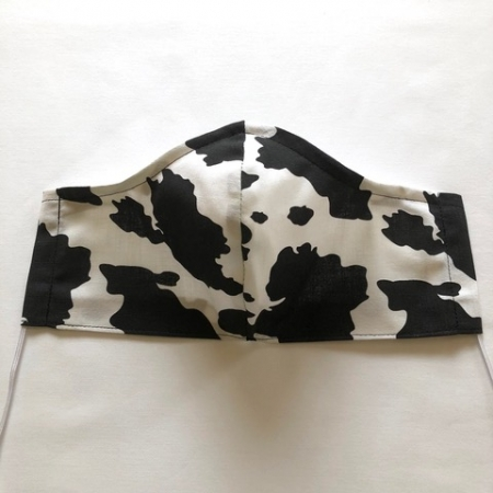 Black & White Cow Mask