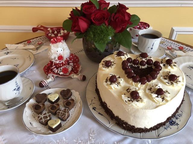 Black Forest Cake Heart Shape