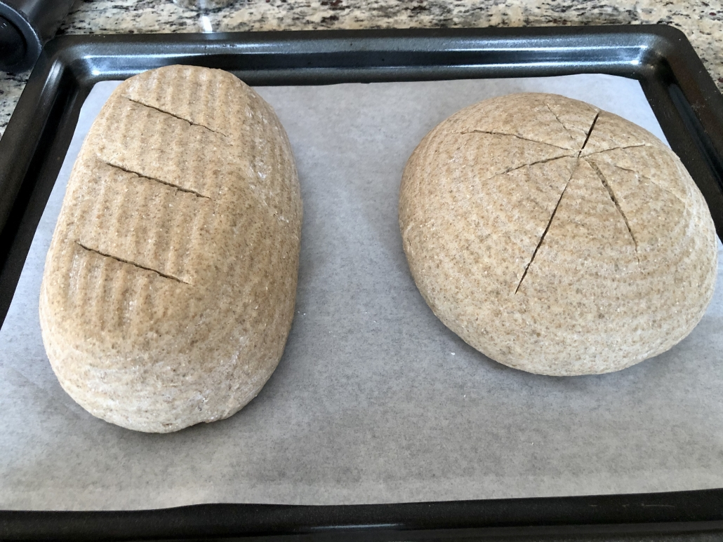 baking of the homemade rye bread