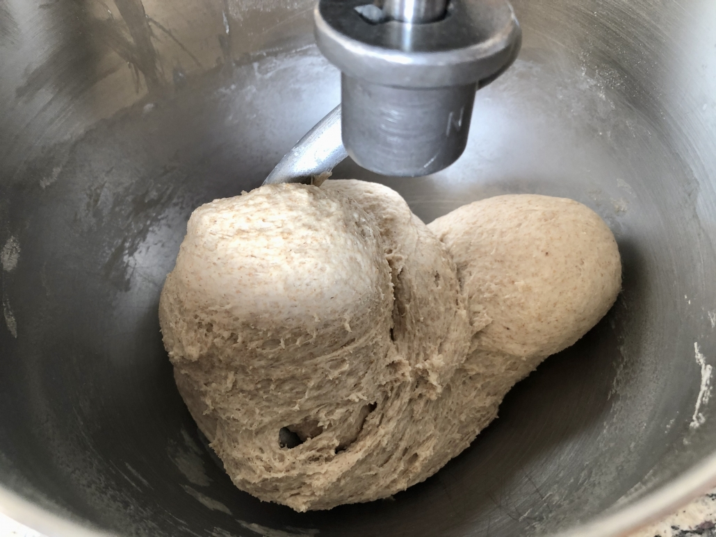 Preparation of the dough for the Authentic German Bread