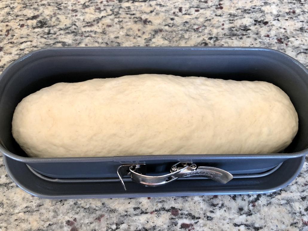 baking the bread of the simple sandwich bread recipe