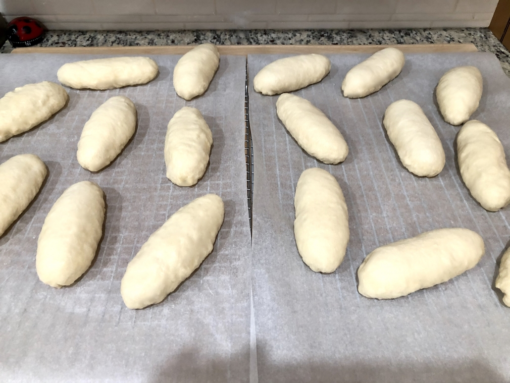 Preparation of the buns