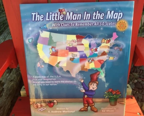 The little man in the map
