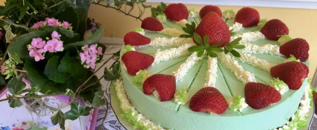 Sweet Woodruff Cheesecake